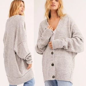 NWT Free People Eucalyptus Cardigan Grey